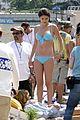 selena gomez blue bikini beach 12