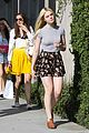 elle fanning saturday shopping spree with mom 13