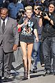 miley cyrus jimmy kimmel live arrival 2 01