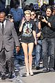 miley cyrus jimmy kimmel live arrival 2 13