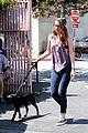 kristen stewart walks her brand new dog 17