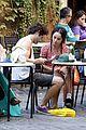 penn badgley zoe kravitz kisses in rome 27