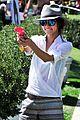 jamie chung hot pink squirt gun coachella 05