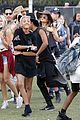 kendall and kylie jenner hang out with jaden and willow smith at coachella08