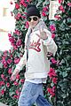 justin bieber attracts a mob of fans while out shopping 11