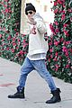 justin bieber attracts a mob of fans while out shopping 13