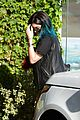 kendall jenner arrives cannes kylie touches up blue hair 19