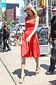 taylor swift red dress meredith met gown 05