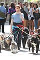 daniel radcliffe dog walker trainwreck nyc set 09