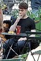 daniel radcliffe dog walker trainwreck nyc set 21