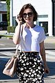 lily collins salon stop before holiday 17