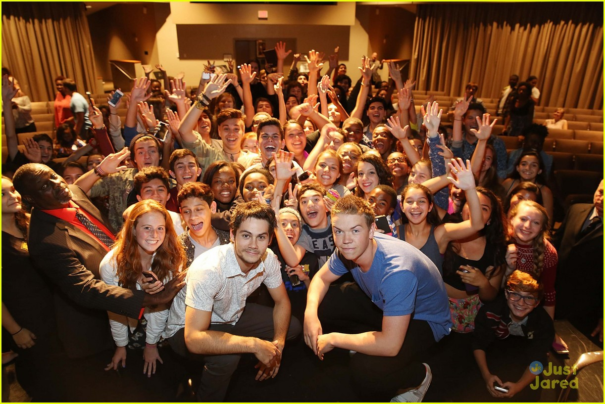 Dylan Obrien Will Poulter Get Crazy With Fans At Maze Runner