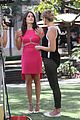 karla souza grove interview hot pink dress 03
