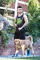 spencer boldman dog jack walk la 04