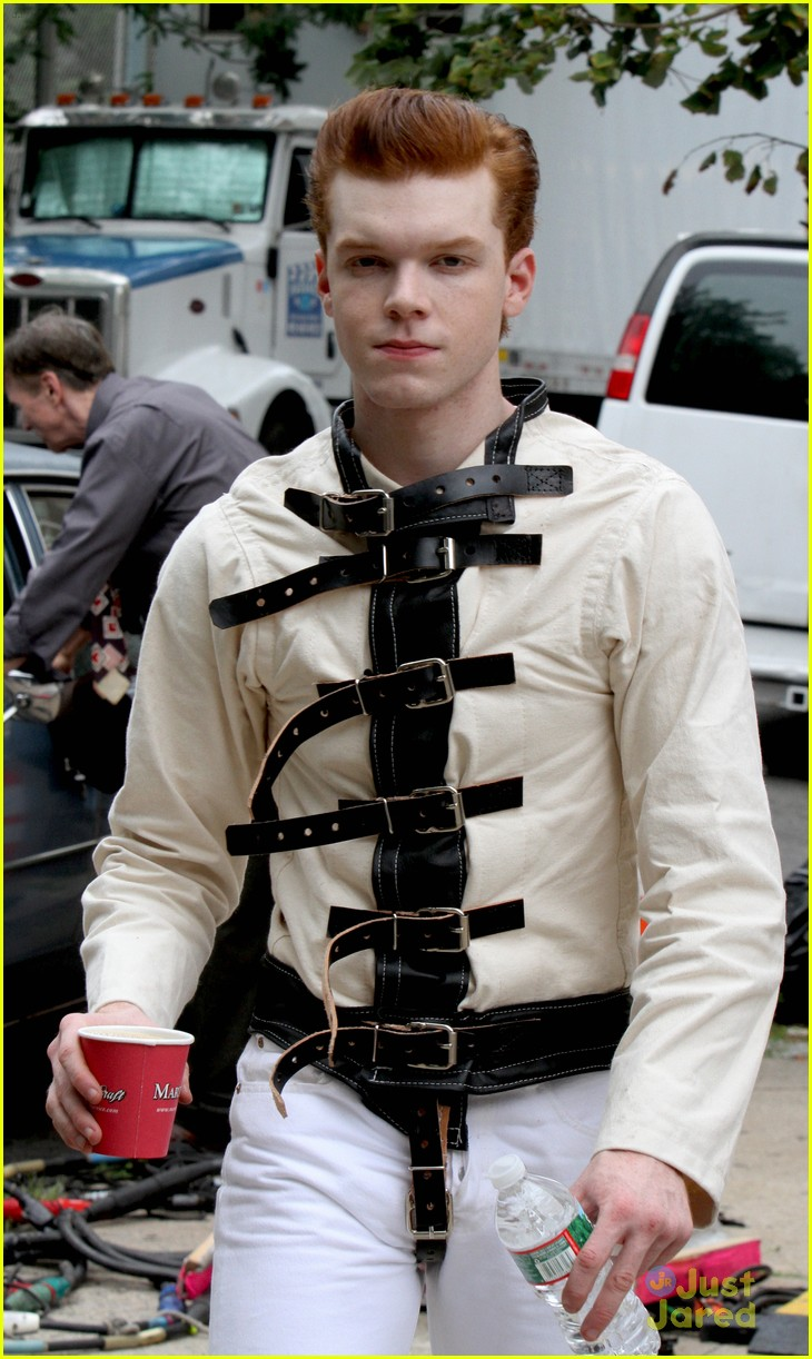 Cameron Monaghan Wears A Straight Jacket While Playing The Joker