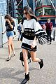 kendall jenner fringey outfit warhol exhibit london 13