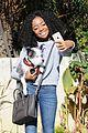 skai jackson selfie game dog walk 04