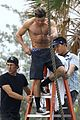 zac efron goes shirtless for tarzan like baywatch moment 05