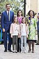 leonor sofia spain easter mass spanish royal family 03