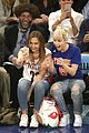 miley cyrus knicks game brandi courtside 10