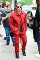 nick jonas red suit aol build appearance 08
