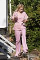 emma roberts pink scrubs queens coffee pickup 05
