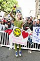 miley cyrus gina rodriguez and barbra streisand stand together at womens march 12