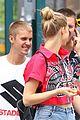 justin bieber runs into patrick schwarzenegger in new york 08