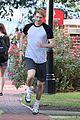joe alwyn and lucas hedges go running on boy erased set 08
