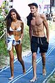 presley gerber flaunts his abs while going shirtless at the beach 02