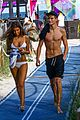 presley gerber flaunts his abs while going shirtless at the beach 09