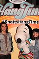 daniella perkins niki koss try new hangtime ride at knotts berry farm 16