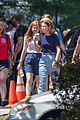 millie bobby brown sadie sink filming stranger things 14