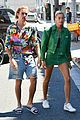 justin bieber hailey baldwin make one colorful couple in beverly hills 08