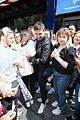 liam payne rocks leather jacket during day of interviews in london 17