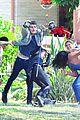 gregg sulkin uses his superpower gloves on runaways set 01