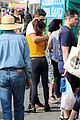 sarah hyland and wells adams share sweet kiss at the farmers market 20