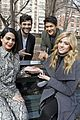 shadowhunters cast bench nyc pics 02