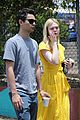 elle fanning holds hands max minghella shopping 31