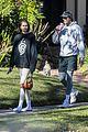 kaia gerber jacob elordi take her dog for a walk 04