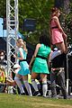 dove cameron chloe bennett yana perault get into character on first day of powerpuff 19