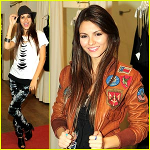 Victoria Justice is Bomber Jacket Beautiful