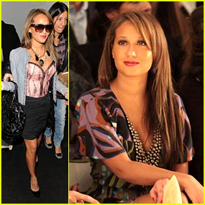 Adrienne Bailon Checks out Tracy Reese Fall Fashion