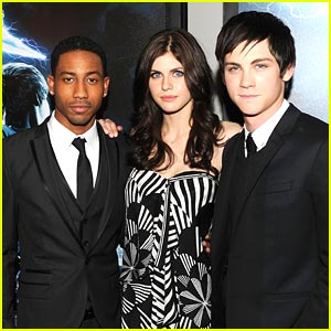 Logan Lerman &#038; Alexandra Daddario Chat Percy Jackson