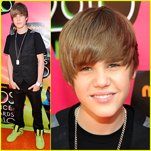 Justin Bieber - 2010 Kids' Choice Awards Orange Carpet