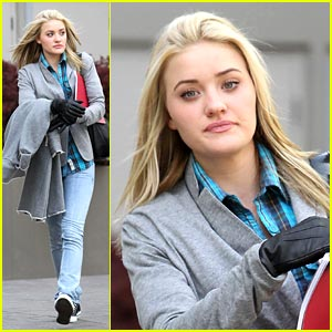 AJ Michalka is Blue Plaid Pretty