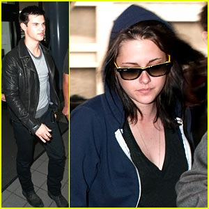 Kristen Stewart & Taylor Lautner: Leavin' LAX