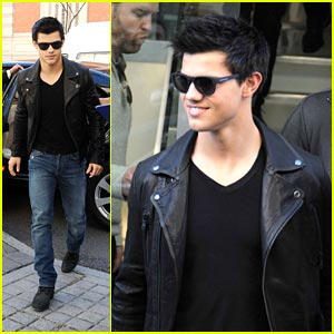 Taylor Lautner is a Belstaff Boy