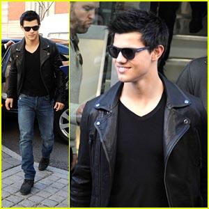 Taylor Lautner is a Belstaff Boy