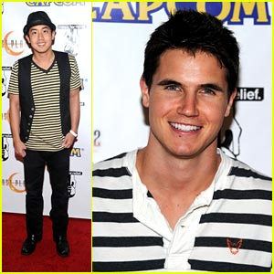 Robbie Amell &#038; Allen Evangelista Stripe It Up